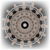 Modelo redondo ornamental griego de la mandala Fondo geométrico de la elegancia del vector Contexto étnico floral decorativo del  stock de ilustración
