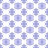 Modelo regular inconsútil con las flores Fondo blanco y azul fotografía de archivo libre de regalías