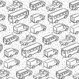 Modelo repetidor con los coches del transporte Fotografía de archivo libre de regalías