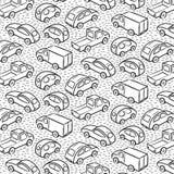 Modelo repetidor con los coches del transporte Imagen de archivo