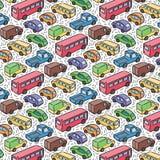 Modelo repetidor con los coches del transporte Imagenes de archivo