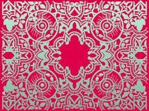 Modelo retro árabe del adorno de la flor de la vendimia del vector Fotografía de archivo libre de regalías