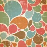 Modelo retro abstracto colorido del vector