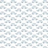 Modelo retro azul de los coches Fotografía de archivo libre de regalías