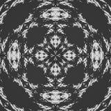 Modelo retro blanco y negro abstracto evocador de cordón libre illustration