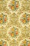 Modelo retro colorido de la materia textil de la tapicería con el Orn floral hecho a mano Imagen de archivo