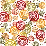 Modelo retro con los círculos abstractos Imagen de archivo libre de regalías