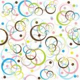Modelo retro con los círculos coloreados Imagenes de archivo
