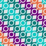 Modelo retro de formas geométricas Bandera colorida del mosaico fondo del inconformista con el lugar para su texto triángulo Fotografía de archivo libre de regalías