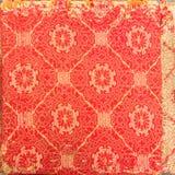 Modelo retro de la materia textil de la tapicería con el ornamento floral hecho a mano y Imagen de archivo