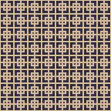 Modelo retro de Lineart Fondo inconsútil del esquema del vector Fotografía de archivo