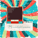 Modelo retro del libro de recuerdos Imagen de archivo libre de regalías