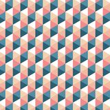 Modelo retro del triángulo Fondo del vector Textura abstracta geométrica Foto de archivo libre de regalías