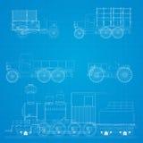 Modelo retro dos carros ilustração do vetor