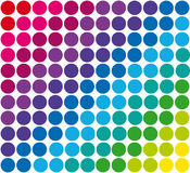 Modelo retro geométrico abstracto inconsútil polka Imagen de archivo libre de regalías