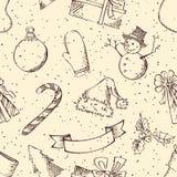 Modelo retro inconsútil de la Navidad Imagen de archivo libre de regalías