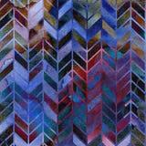 Modelo retro inconsútil de la oscuridad de las costillas del watercolour 60s Fotos de archivo libres de regalías