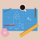 Modelo Rocket Fotografía de archivo libre de regalías