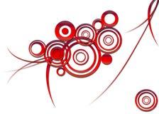 Modelo rojo abstracto Foto de archivo libre de regalías