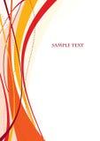 Modelo rojo abstracto Imágenes de archivo libres de regalías
