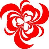 Modelo rojo artístico con la indirecta del amor Ilustración del Vector