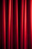 Modelo rojo de la cortina Fotografía de archivo libre de regalías