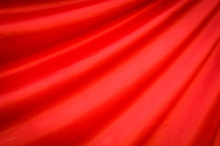 Modelo rojo de la materia textil Fotos de archivo