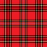 Modelo rojo de la tela escocesa Fotos de archivo libres de regalías