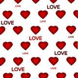 Modelo rojo de los corazones Foto de archivo libre de regalías