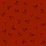 Modelo rojo de los corazones Foto de archivo