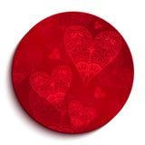 Modelo rojo del círculo para el día de tarjeta del día de San Valentín Foto de archivo libre de regalías