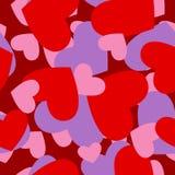 Modelo rojo del corazón del ejército Los militares camuflan la textura del vector para V Imagen de archivo