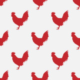 Modelo rojo del gallo del vector Fotografía de archivo libre de regalías