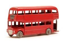 Modelo rojo del omnibus Fotografía de archivo