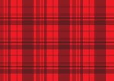 Modelo rojo del vector de la tela del tartán de la tela escocesa Fotos de archivo libres de regalías