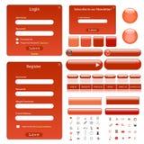 Modelo rojo del Web Imágenes de archivo libres de regalías