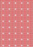 Modelo rojo entrelazado Imágenes de archivo libres de regalías