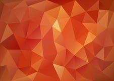 Modelo rojo geométrico ilustración del vector