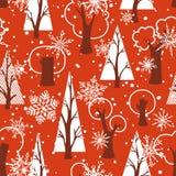 Modelo rojo inconsútil de la Navidad ilustración del vector
