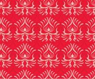 Modelo rojo inconsútil decorativo Imagenes de archivo