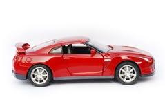 Modelo rojo oscuro del coche deportivo. Foto de archivo