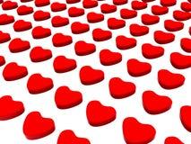 modelo rojo puesto 3d de los corazones Fotos de archivo