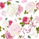Modelo romántico del jardín stock de ilustración
