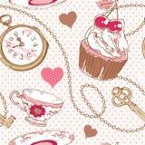 Modelo romántico del vintage del amor libre illustration