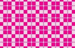 Modelo rosado de la guinga Textura del Rhombus para - la tela escocesa, los manteles, las camisas, los vestidos, el papel, el lec libre illustration