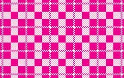 Modelo rosado de la guinga Textura del Rhombus para - la tela escocesa, los manteles, las camisas, los vestidos, el papel, el lec stock de ilustración
