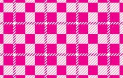Modelo rosado de la guinga Textura del Rhombus para - la tela escocesa, los manteles, las camisas, los vestidos, el papel, el lec ilustración del vector