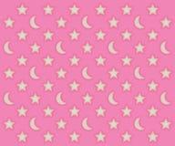 Modelo rosado de las lunas y de estrellas Fotografía de archivo libre de regalías