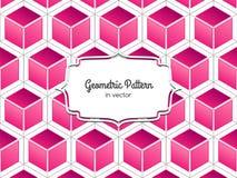 Modelo rosado del cubo Fotografía de archivo libre de regalías