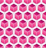 Modelo rosado del cubo Imagenes de archivo